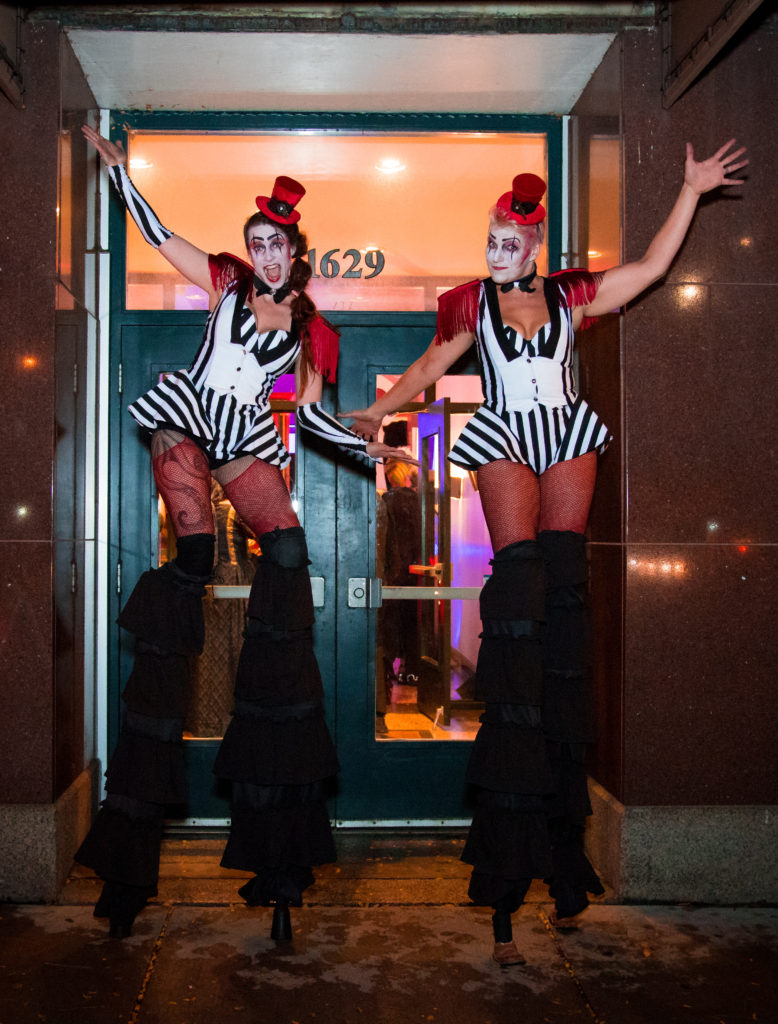 Freakshow Circus theme Stilt Walkers- Enticing Entertainment