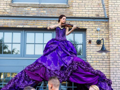 Purple Violinist Archway
