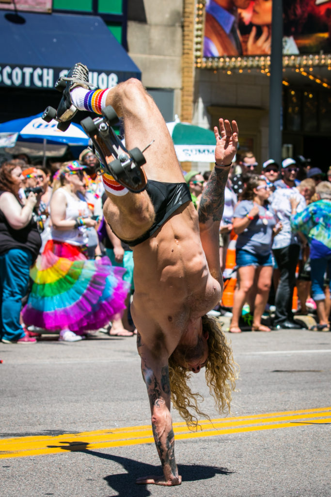 Roller Skater- Enticing Entertainment- Pride Parade Minneapolis