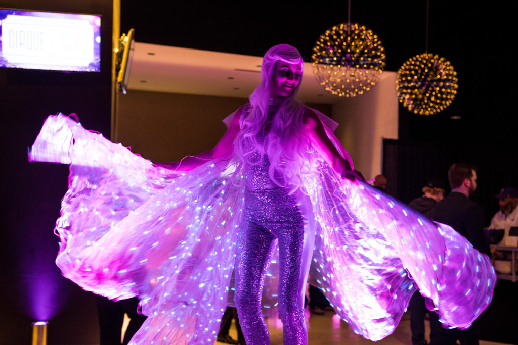 LED Wing Dancer- Enticing Entertainment- Vikings Holiday Party